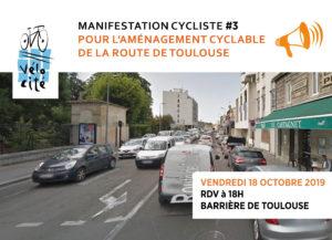 Manifestation Route de Toulouse 18 ocotbre 2019