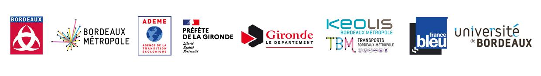 bandeau partenaires Fête du vélo Bordeaux 2020