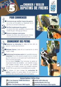 Fiche 5 > Changer / Régler des patins de frein
