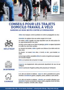 conseils trajets vélo