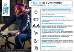 vélotaf confinement bordeaux métropole