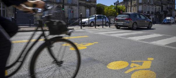 Aménagements cyclables temporaires Bordeaux